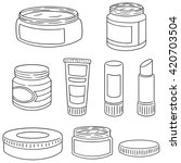 vector set of topical cosmetic... | Shutterstock .eps vector #420703504