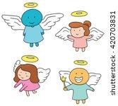 vector set of angel | Shutterstock .eps vector #420703831