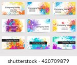 frame template made of paint... | Shutterstock .eps vector #420709879