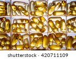 omega 3 6 9 fish oil yellow... | Shutterstock . vector #420711109
