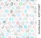seamless honeycomb pattern with ... | Shutterstock . vector #420715687