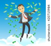 happy successful businessman... | Shutterstock .eps vector #420715984