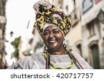 brazilian woman wearing... | Shutterstock . vector #420717757