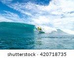 surfer with long white hair...   Shutterstock . vector #420718735