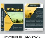 flyers design template vector.... | Shutterstock .eps vector #420719149