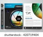 brochure portfolio design... | Shutterstock .eps vector #420719404