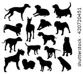 set of isolated dogs silhouette | Shutterstock .eps vector #420720451