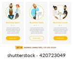 business characters set.... | Shutterstock .eps vector #420723049