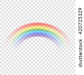 rainbow icon. shape arch... | Shutterstock .eps vector #420725329