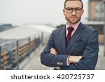 stylish serious handsome... | Shutterstock . vector #420725737