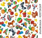 cartoon toys seamless pattern... | Shutterstock .eps vector #420726169