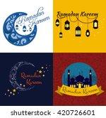 happy ramadan kareem  greeting... | Shutterstock .eps vector #420726601