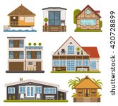 rent house set. modern... | Shutterstock .eps vector #420728899