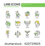 set of modern vector line... | Shutterstock .eps vector #420729835