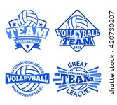 set of vector volleyball badges ... | Shutterstock .eps vector #420730207