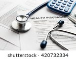 health care costs. stethoscope... | Shutterstock . vector #420732334