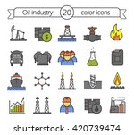 oil and petroleum industry...   Shutterstock .eps vector #420739474