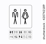 wc   toilet icons set. men and... | Shutterstock .eps vector #420742189