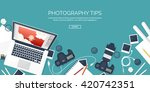photography equipment with... | Shutterstock .eps vector #420742351