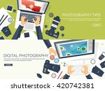 photography equipment with... | Shutterstock .eps vector #420742381