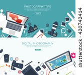 photography equipment with... | Shutterstock .eps vector #420742414
