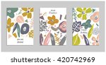 collection of trendy universal... | Shutterstock .eps vector #420742969
