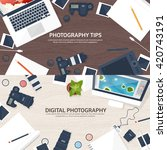 photography equipment with... | Shutterstock .eps vector #420743191