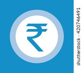 indian rupee symbol . vector... | Shutterstock .eps vector #420746491