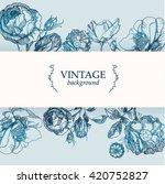 vector vintage postcard  hand...   Shutterstock .eps vector #420752827