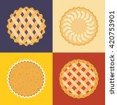 Pie Icon Set  Raspberry  Cherr...