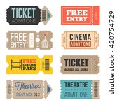 vintage tickets in different... | Shutterstock .eps vector #420754729