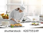 professional confectioner... | Shutterstock . vector #420755149