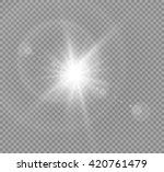 vector transparent sunlight... | Shutterstock .eps vector #420761479