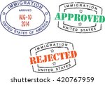 passport stamps ''immigration... | Shutterstock .eps vector #420767959