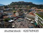 scenic view to monastiraki... | Shutterstock . vector #420769435