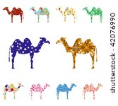 seamless pattern with camels | Shutterstock . vector #42076990