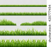 grass borders set  isolated on... | Shutterstock .eps vector #420777454