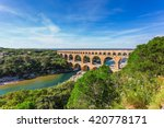 Three Tiered Aqueduct Pont Du...