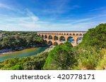 Three Tiered Aqueduct Pont Du...