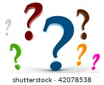 3d rendering of the question... | Shutterstock . vector #42078538