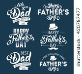 fathers day lettering... | Shutterstock .eps vector #420787477