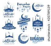 set of emblems for islamic holy ... | Shutterstock .eps vector #420789139