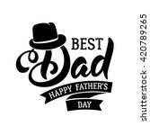 fathers day lettering... | Shutterstock .eps vector #420789265