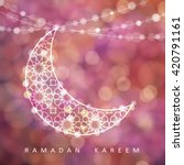 ramadan string with ornamental... | Shutterstock .eps vector #420791161