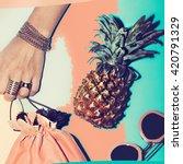 love beach. love  summer.  love ... | Shutterstock . vector #420791329
