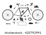 road bicycle parts and... | Shutterstock .eps vector #420792991