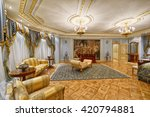 luxurious interiors | Shutterstock . vector #420794881