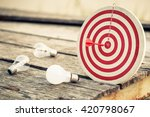 dart hit the center of... | Shutterstock . vector #420798067