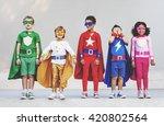 superhero kids aspiration... | Shutterstock . vector #420802564