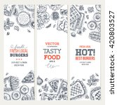 fast food banner collection.... | Shutterstock .eps vector #420803527